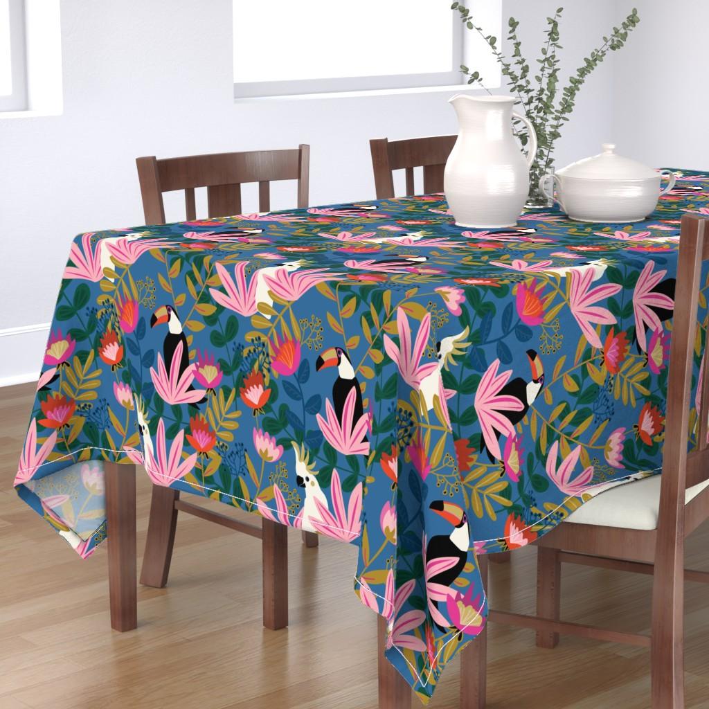 Bantam Rectangular Tablecloth featuring Bohemian Paradise-Medium Scale by jenflorentine