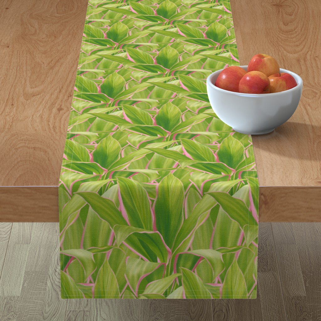 Minorca Table Runner featuring Cordyline Paradise by mia_valdez