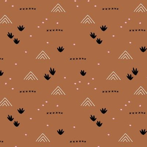 Paper cut and mudcloth minimal abstract design ethnic boho summer copper fall brown SMALL