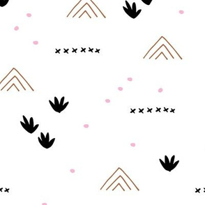 Paper cut and mudcloth minimal abstract design ethnic boho summer copper pink fall brown