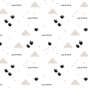 Paper cut and mudcloth minimal abstract design ethnic boho summer copper fall brown pink SMALL