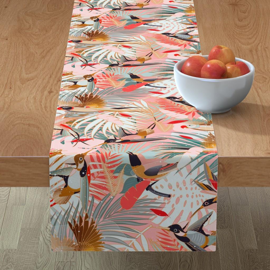 Minorca Table Runner featuring Boho Birds / Bohemian Paradise by evamatise