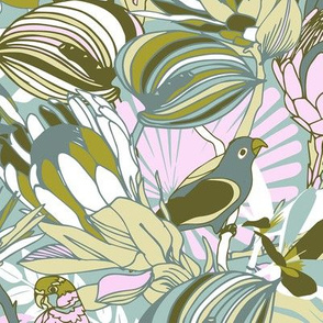 Tropical paradise | Grayish Turquoise