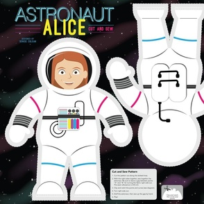 Astronaut Alice Cut and Sew Plushie Pillow Project