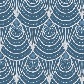 art deco dark blue