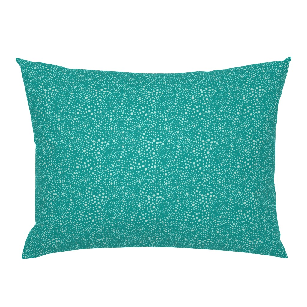 Campine Pillow Sham featuring Pebbles - Teal with Mint by hettiejoan