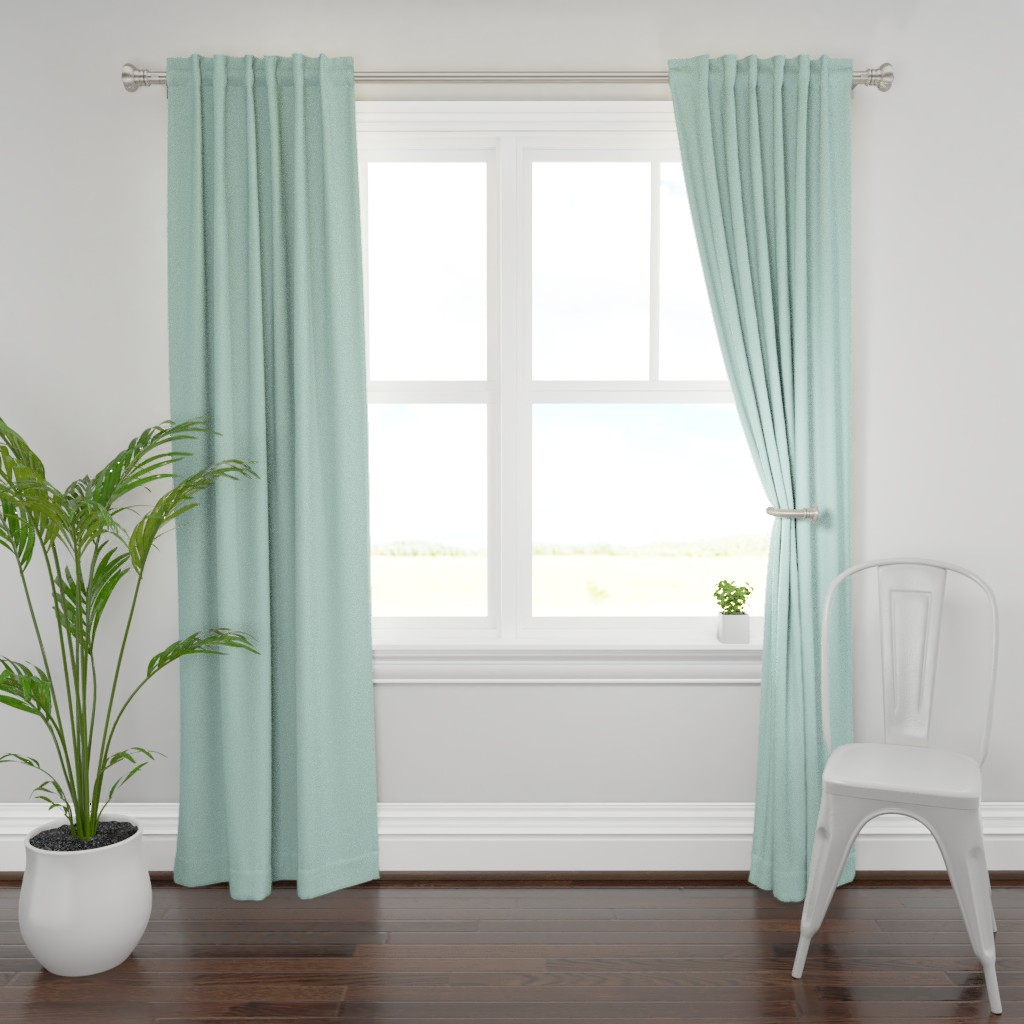 Plymouth Curtain Panel featuring HJ Solids - Mint by hettiejoan