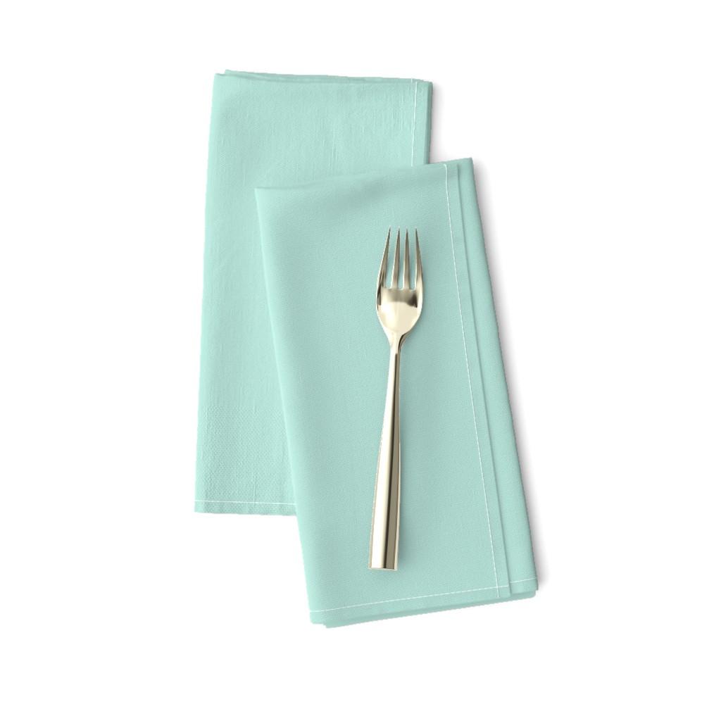 Amarela Dinner Napkins featuring HJ Solids - Mint by hettiejoan