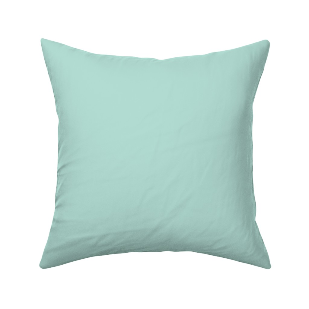 Catalan Throw Pillow featuring HJ Solids - Mint by hettiejoan