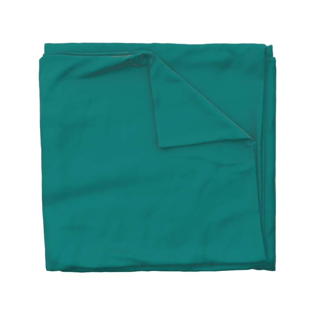 Wyandotte Duvet Cover featuring HJ Solids - Teal by hettiejoan