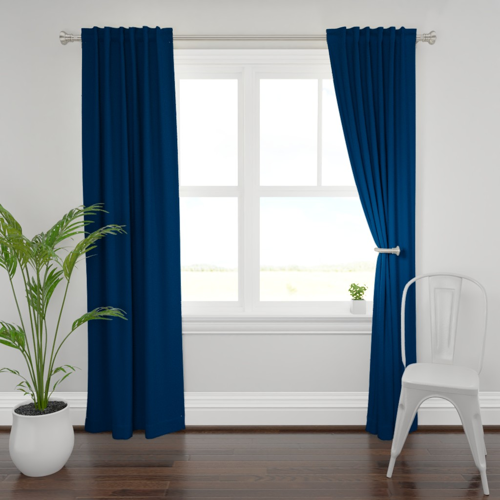 Plymouth Curtain Panel featuring HJ Solids - Navy by hettiejoan
