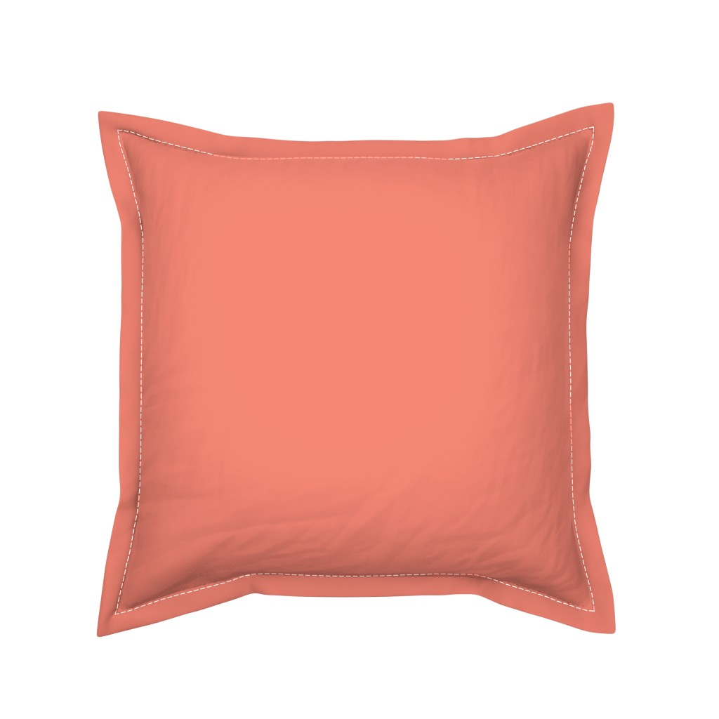 Serama Throw Pillow featuring HJ Solids - Coral by hettiejoan