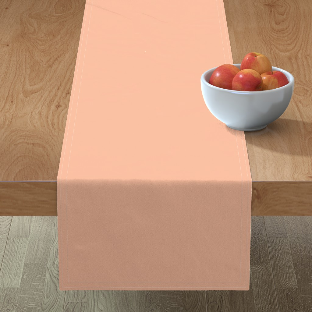 Minorca Table Runner featuring HJ Solids - Blush by hettiejoan