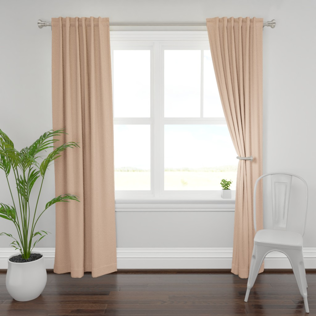 Plymouth Curtain Panel featuring HJ Solids - Blush by hettiejoan