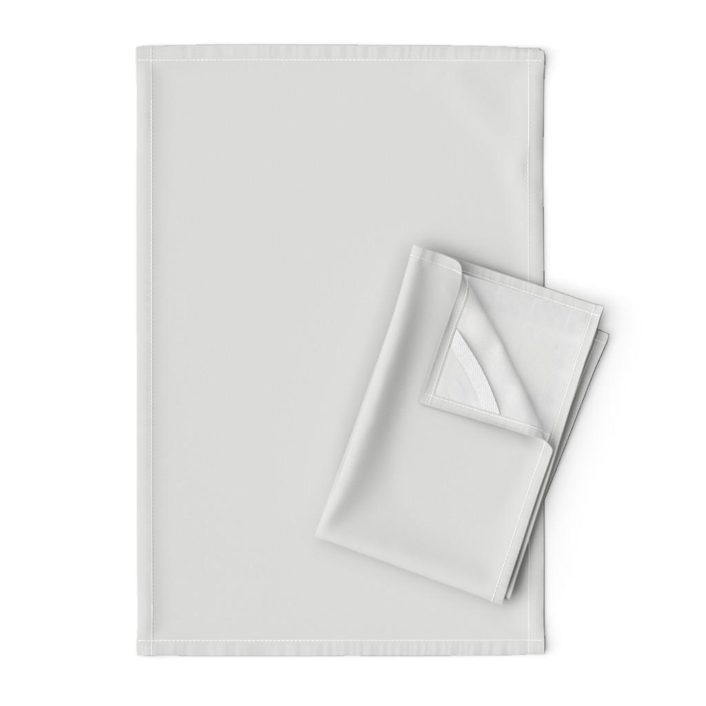 Orpington Tea Towels featuring HJ Solids - Light Gray by hettiejoan