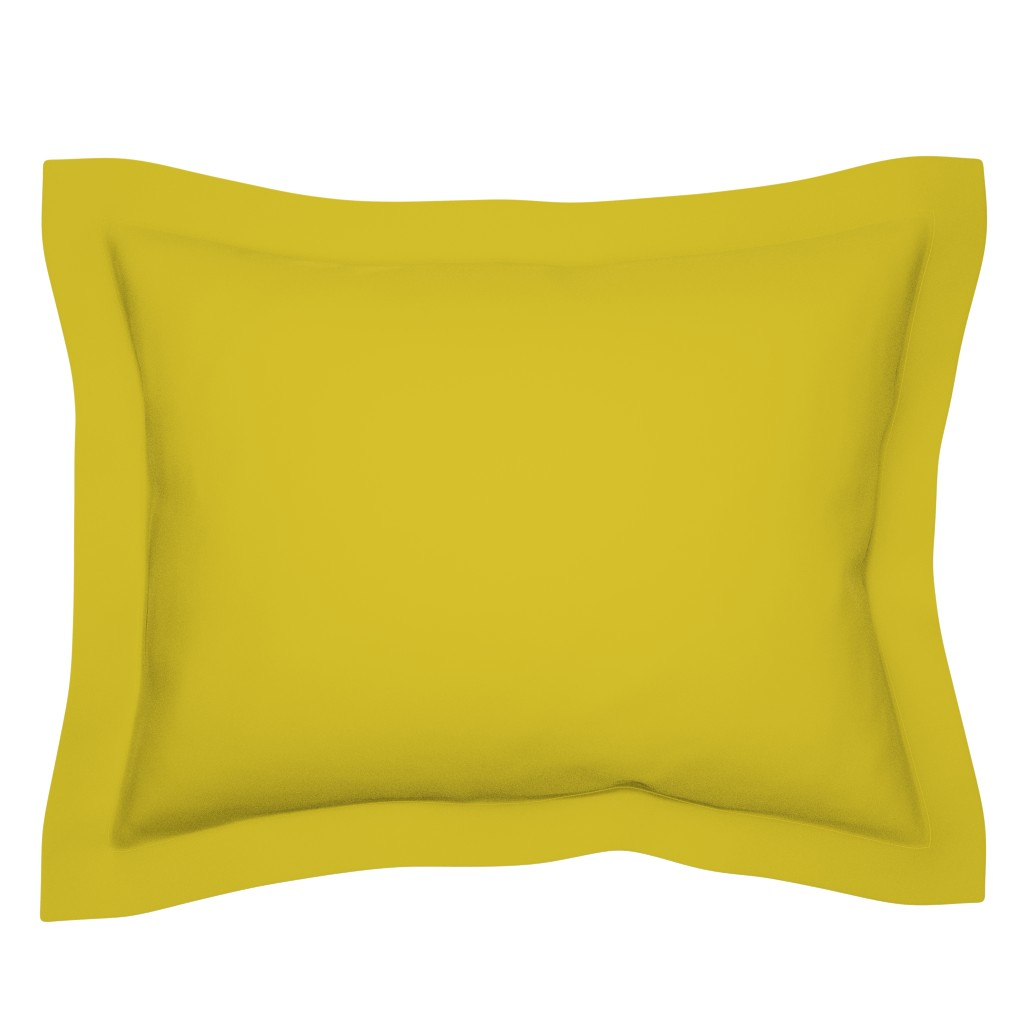 Sebright Pillow Sham featuring HJ Solids - Mustard by hettiejoan