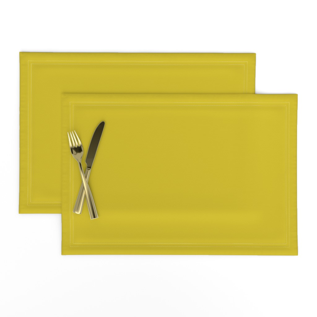 Lamona Cloth Placemats featuring HJ Solids - Mustard by hettiejoan