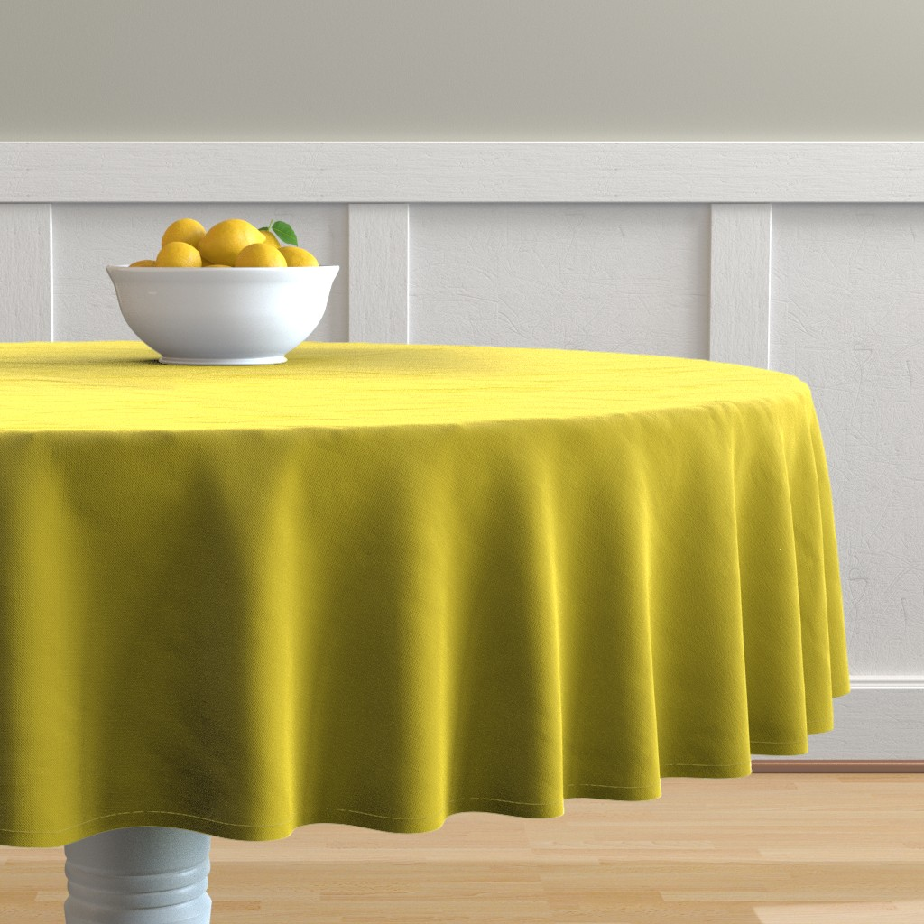 Malay Round Tablecloth featuring HJ Solids - Mustard by hettiejoan