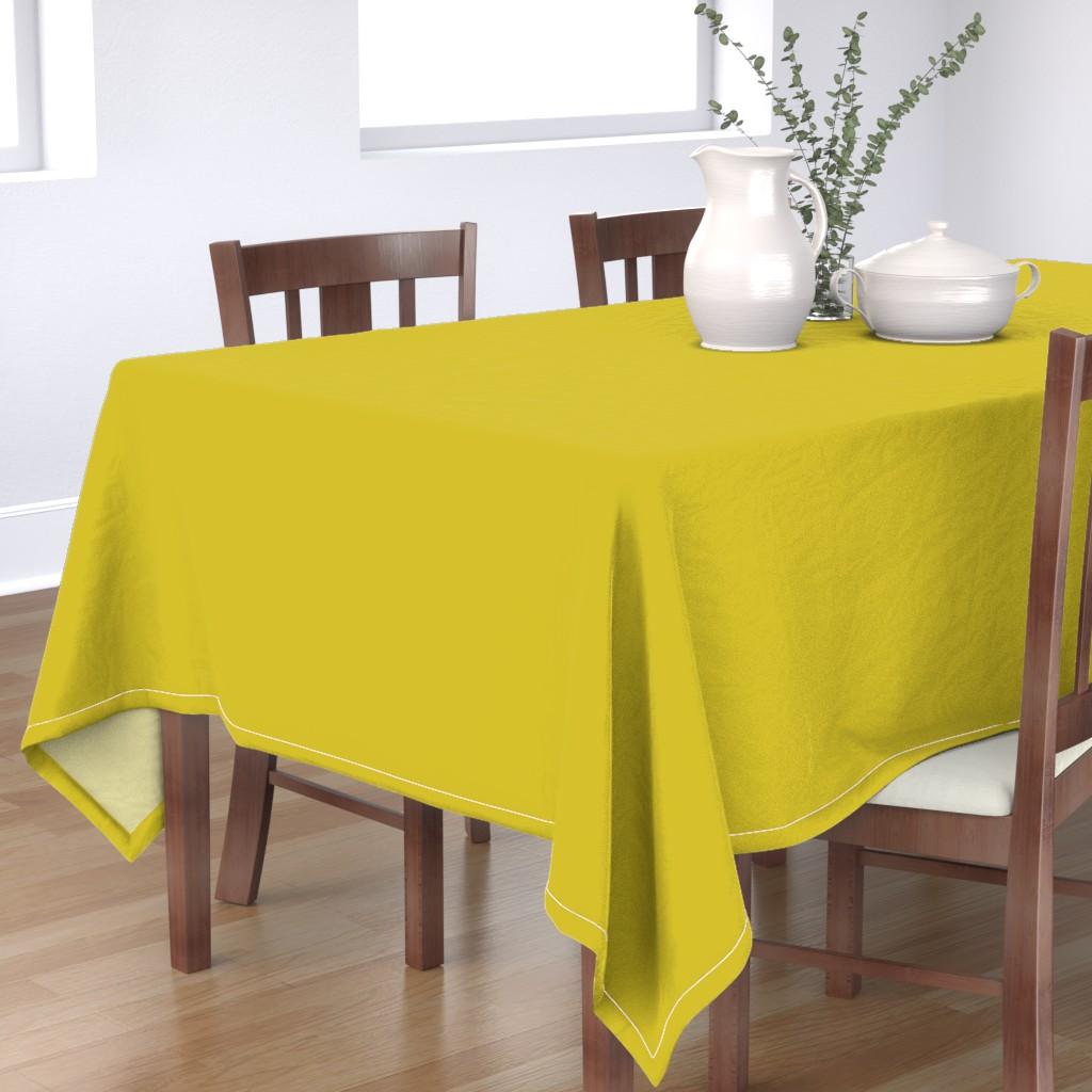 Bantam Rectangular Tablecloth featuring HJ Solids - Mustard by hettiejoan