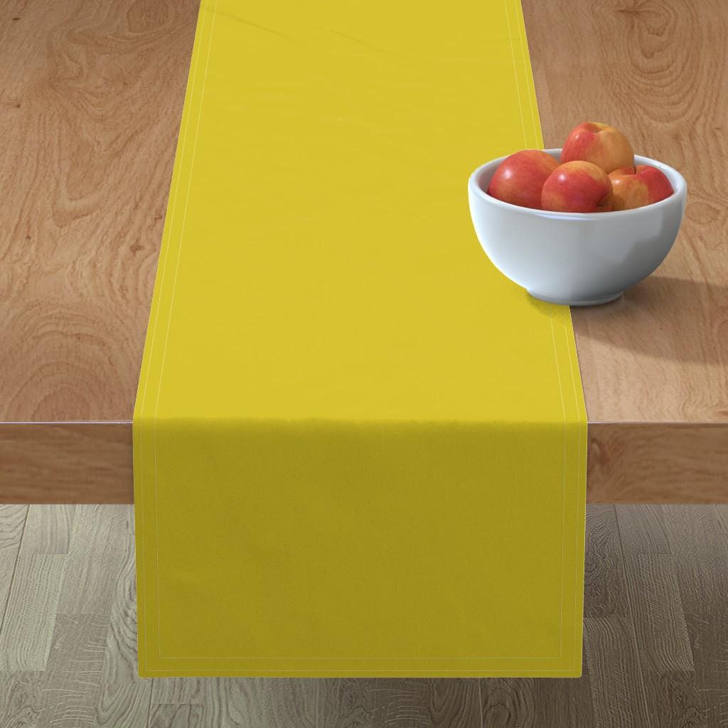 Minorca Table Runner featuring HJ Solids - Mustard by hettiejoan