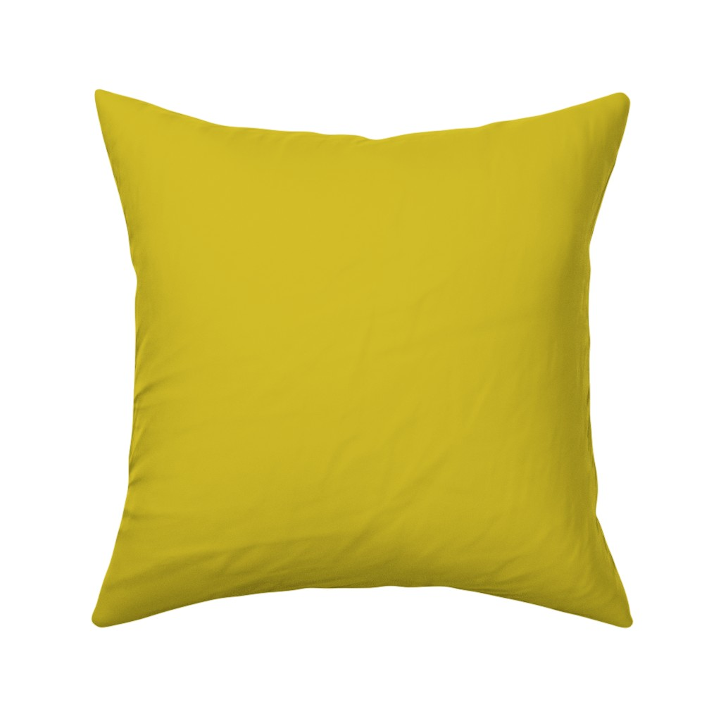 Catalan Throw Pillow featuring HJ Solids - Mustard by hettiejoan
