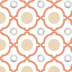 Coral Quatrefoil Circles P1a4