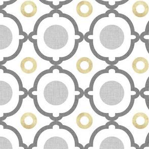Gray Quatrefoil Circles Gray P1a1