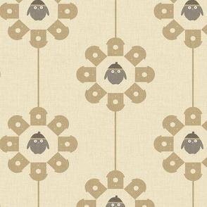 Gold Bird in a Circle P18a5