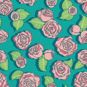 Pink Tea Roses by ArtfulFreddy