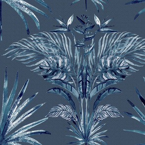Indigo Batik Bohemian Palms