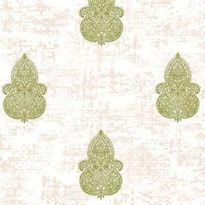 """Boho Neutral-olive Turpentine cloth 12"""""""