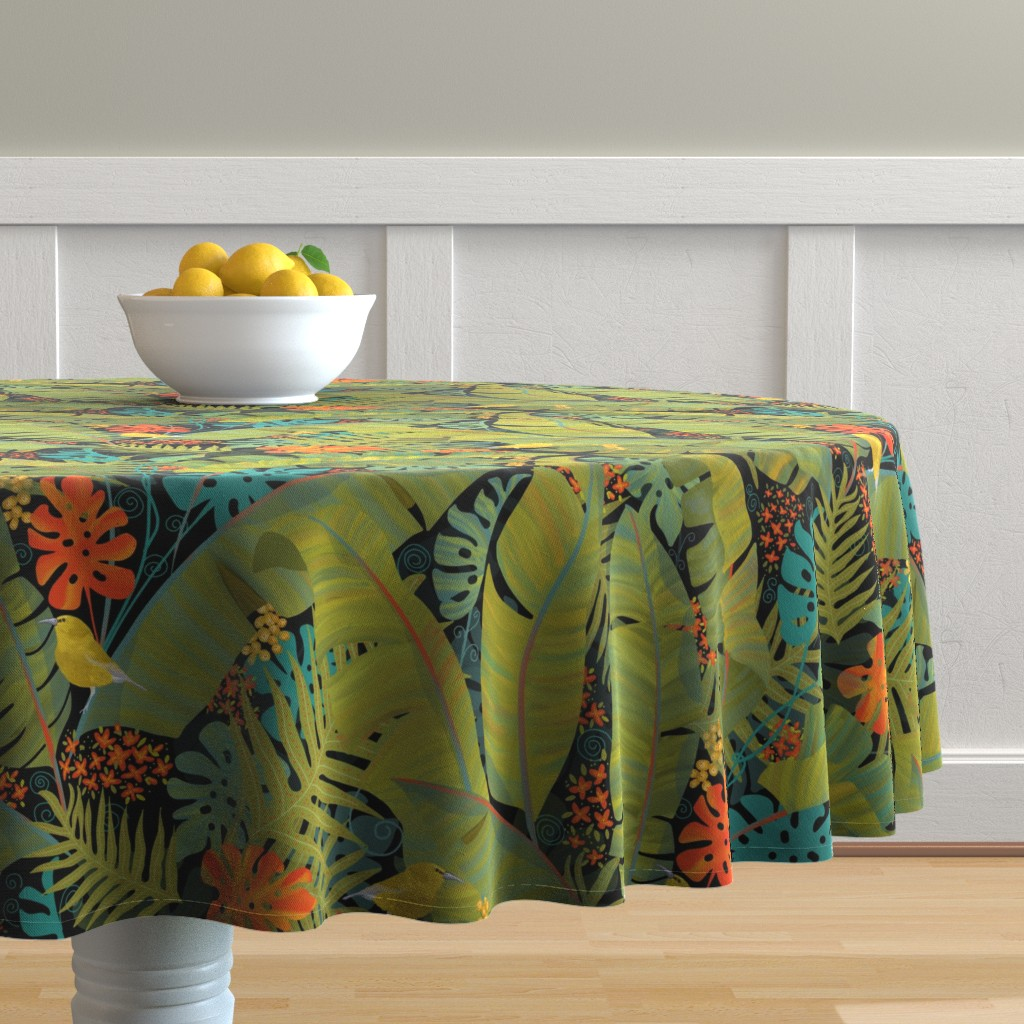Malay Round Tablecloth featuring Bohemian Paradise  by honoluludesign