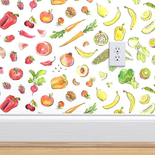 Wallpaper Eat The Rainbow Healthy Food Large
