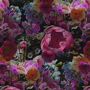 moody florals magenta