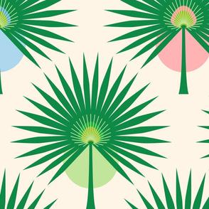 Fan Palm Leaves - Large