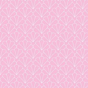 Little shell summer scallop minimal tropical surf print pink SMALL