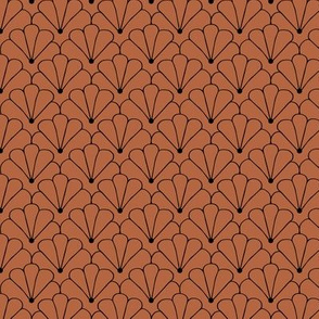Little shell summer scallop minimal tropical surf print copper fall brown