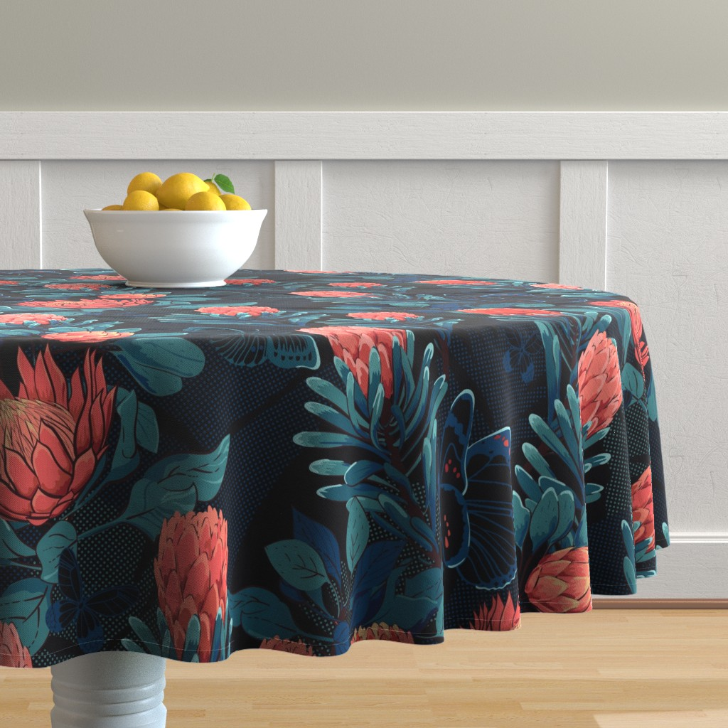 Malay Round Tablecloth featuring Night paradise by ringele