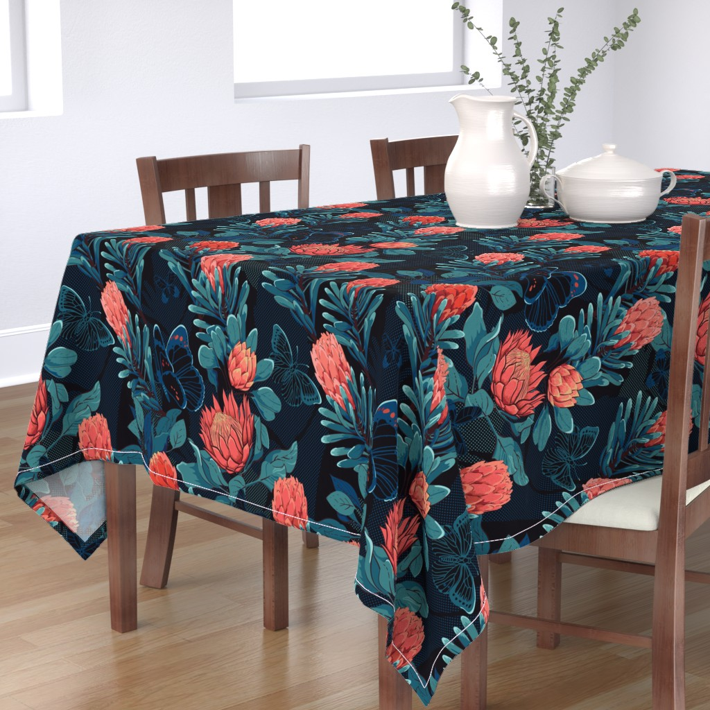 Bantam Rectangular Tablecloth featuring Night paradise by ringele