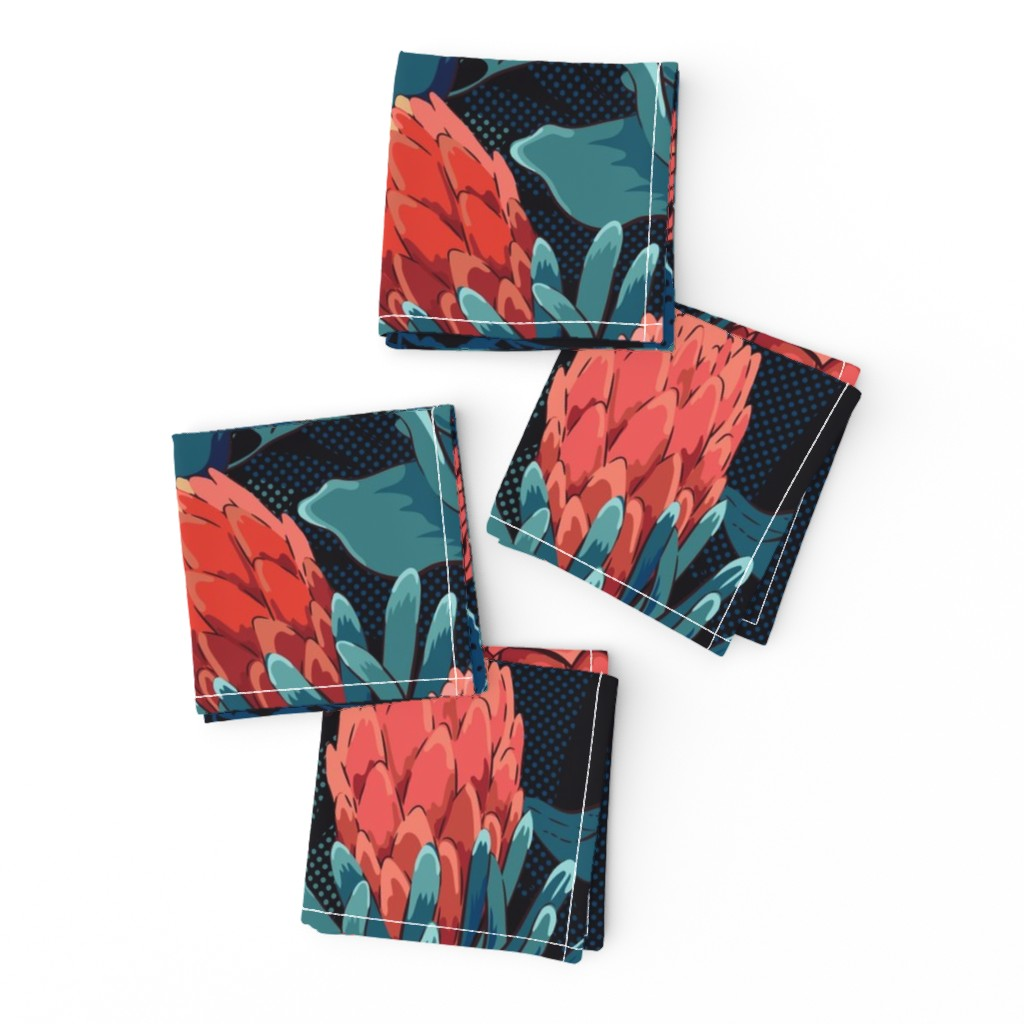 Frizzle Cocktail Napkins featuring Night paradise by ringele