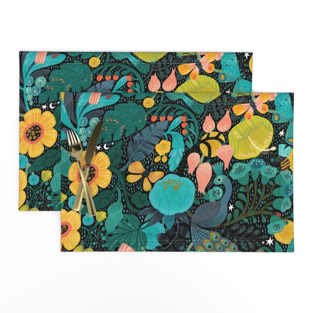 Lamona Cloth Placemats featuring Bohemian Bop  by cynthiafrenette
