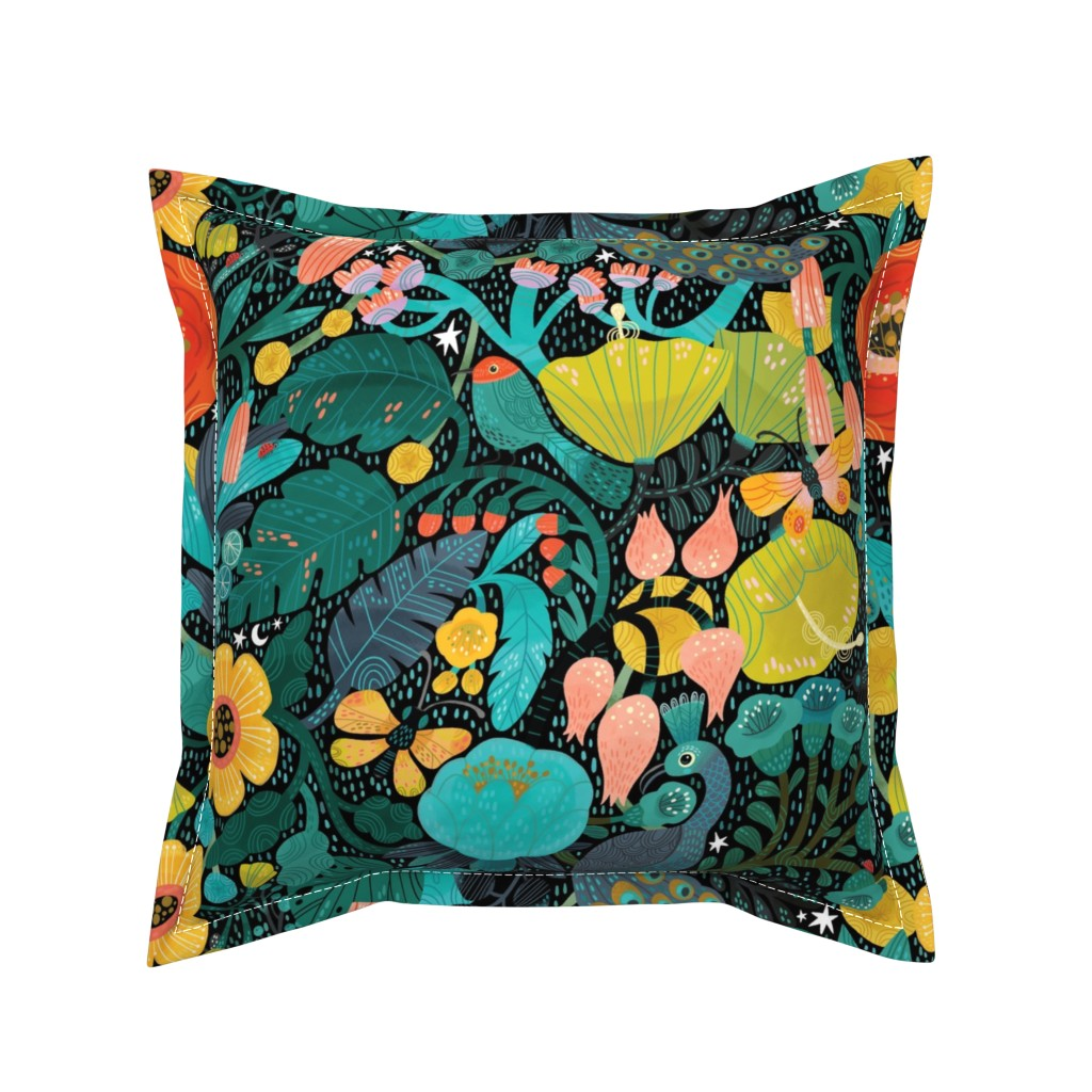 Serama Throw Pillow featuring Bohemian Bop  by cynthiafrenette