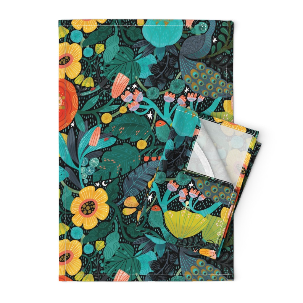 Orpington Tea Towels featuring Bohemian Bop  by cynthiafrenette