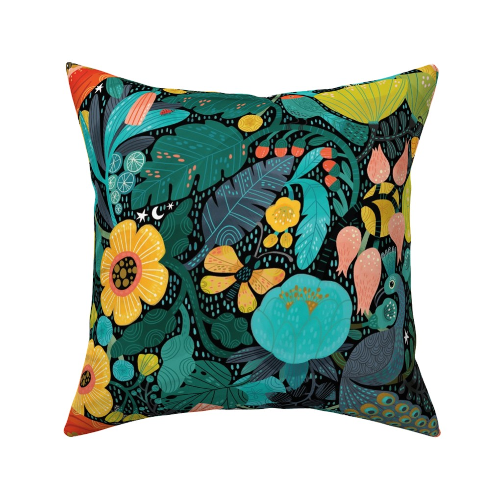 Catalan Throw Pillow featuring Bohemian Bop  by cynthiafrenette