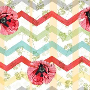 Maximalist Summer Poppy Watercolor