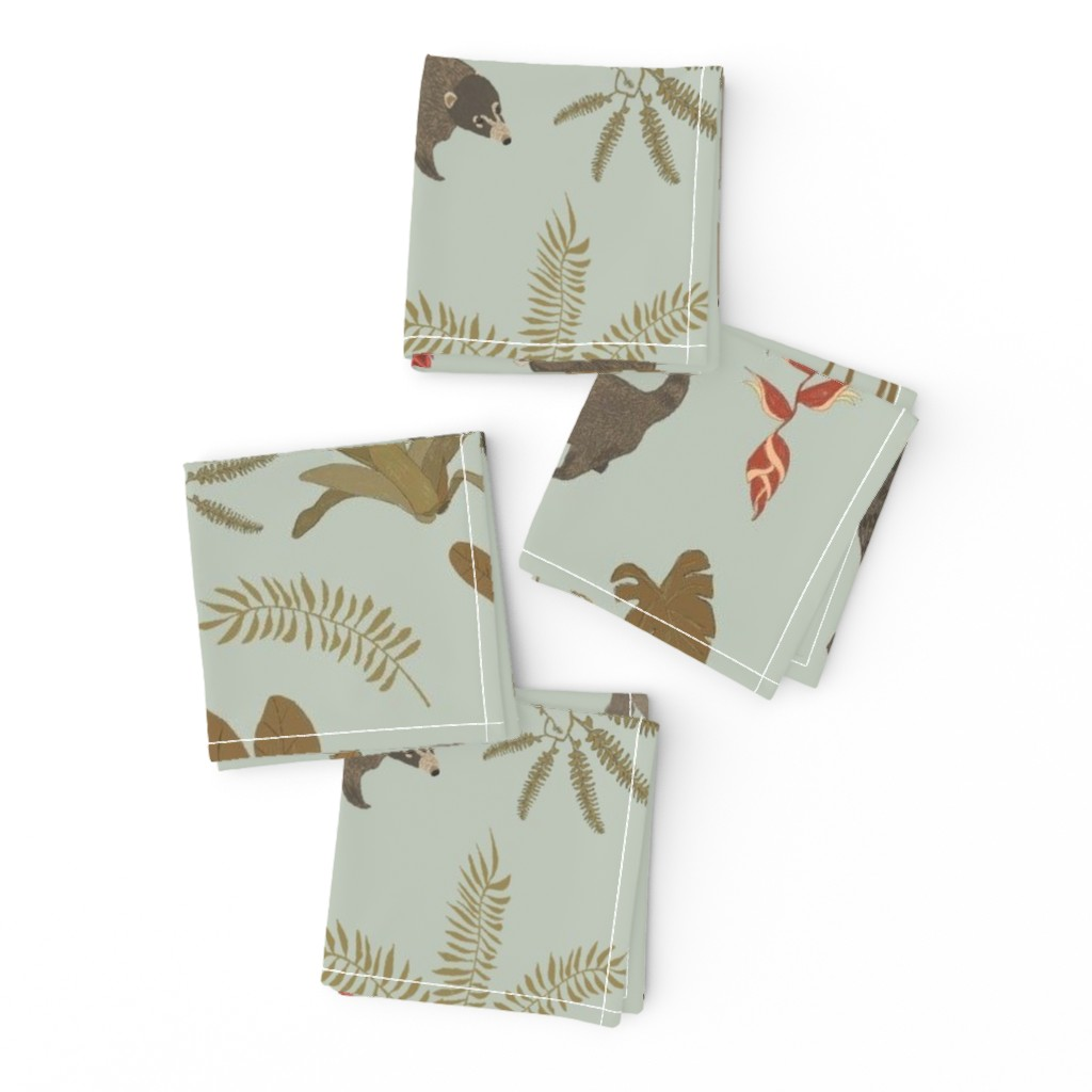 Frizzle Cocktail Napkins featuring Coati Fest by tarakatedesigns
