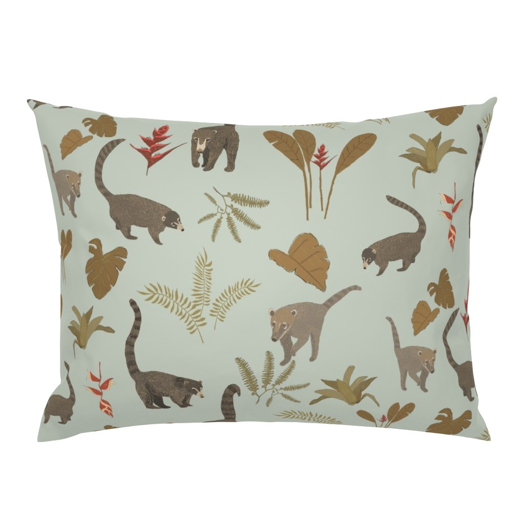 Campine Pillow Sham featuring Coati Fest by tararoddenrobinson