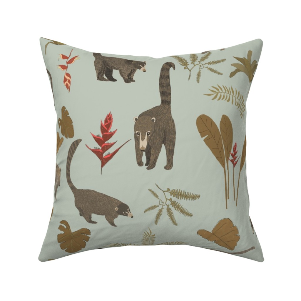 Catalan Throw Pillow featuring Coati Fest by tararoddenrobinson