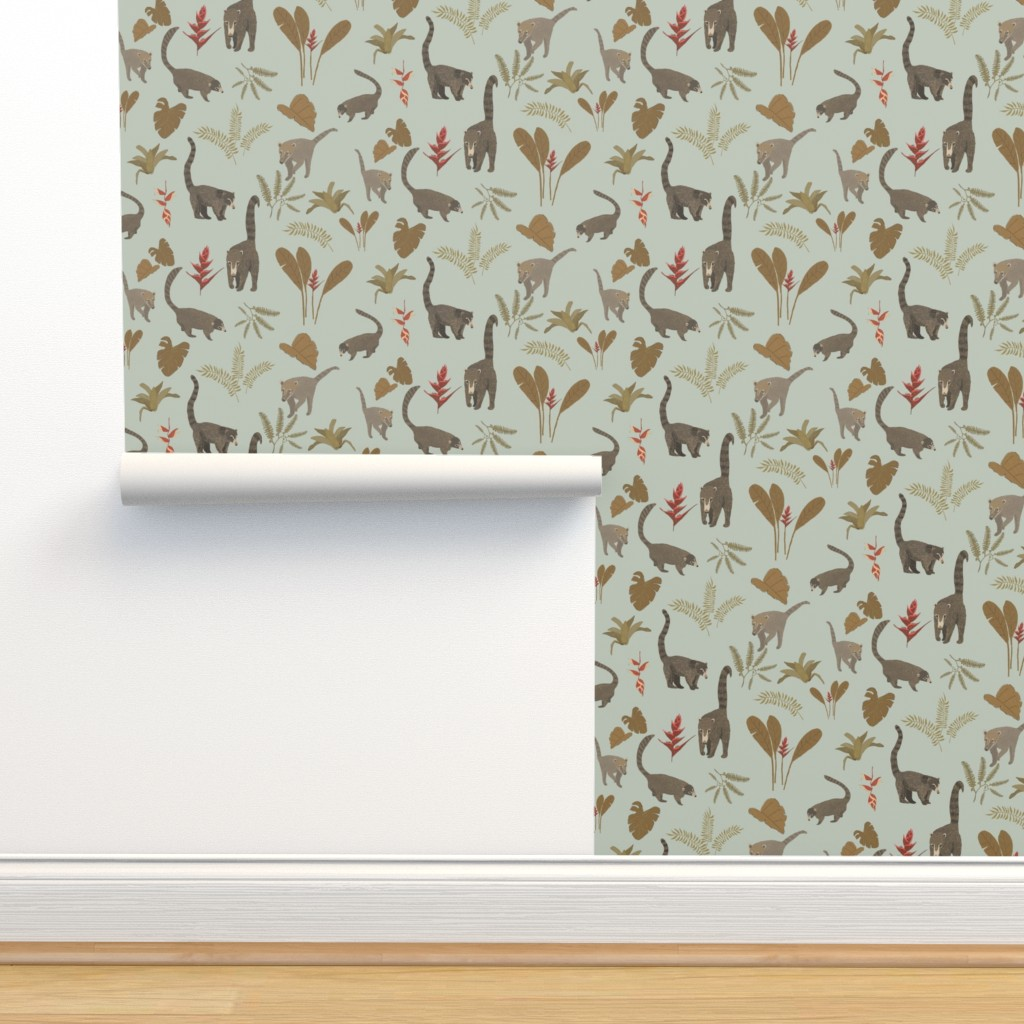 Isobar Durable Wallpaper featuring Coati Fest by tarakatedesigns