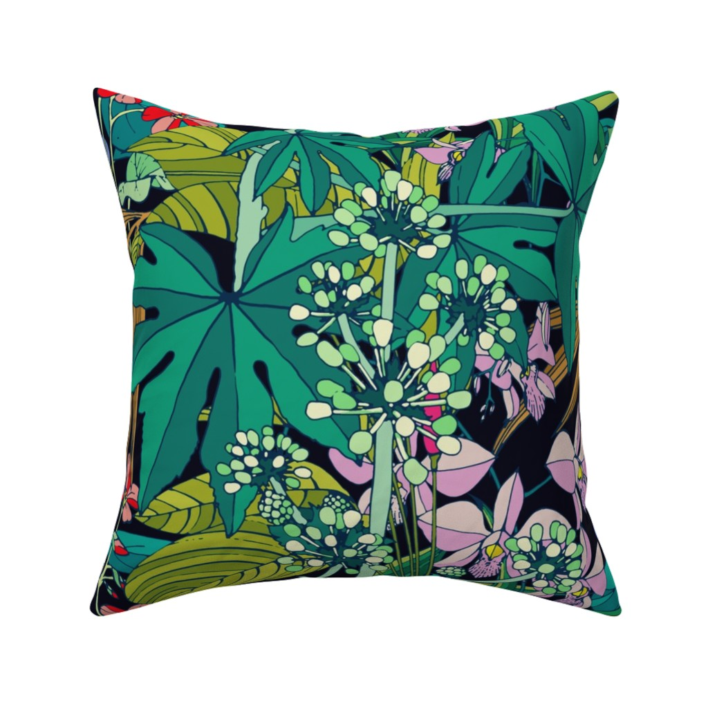 Catalan Throw Pillow featuring Secret Oasis (vintage) by chicca_besso
